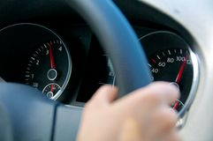 Deska rozdzielcza, prędkości ograniczenie Zdjęcie Stock