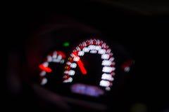 Deska rozdzielcza samochód w nocy Obraz Stock