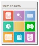 Deska z różnymi biznesowymi symbolami Fotografia Royalty Free