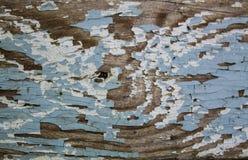 Deska z starą błękitną farbą obrazy royalty free
