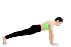 Deski joga poza obraz stock