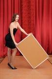 deski pusty dziewczyny chwyt Zdjęcia Stock