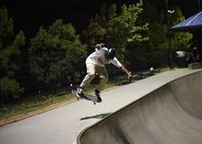 Deskorolkarz przy skatepark Zdjęcie Royalty Free