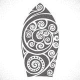 deskowa brzegowa gardy surf Dotwork wzór Zdjęcia Royalty Free