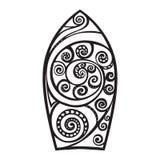 deskowa brzegowa gardy surf Tatuażu styl Zdjęcia Royalty Free