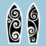 deskowa brzegowa gardy surf Tatuażu styl Fotografia Stock
