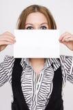 deskowego biznesu puści mienia białej kobiety potomstwa zdjęcie royalty free