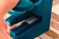 Deskowego chipboard rżnięte części Fotografia Stock