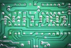 deskowego obwodu elektroniczna zieleń Zdjęcia Royalty Free