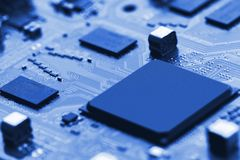 deskowego obwodu zakończenia skutka elektroniczny promień w górę x Zdjęcie Royalty Free