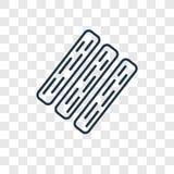 Deskowego pojęcia wektorowa liniowa ikona odizolowywająca na przejrzystym backgro ilustracja wektor