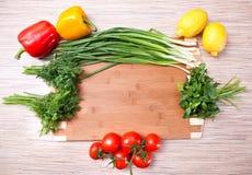 deskowi ciapania kuchni warzywa Obrazy Stock