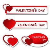 deskowi dzień etykietki zawiadomienia valentines Zdjęcie Stock