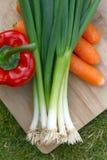 deskowi organicznie warzywa Obrazy Royalty Free
