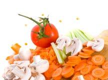 deskowi rżnięci warzywa Obrazy Royalty Free