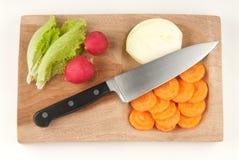 deskowi tnący różni warzywa Obraz Royalty Free