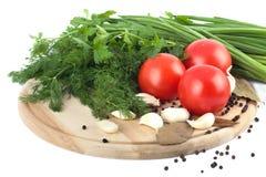 deskowi tnący surowi warzywa Obrazy Stock
