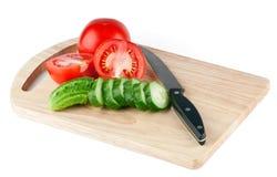 deskowi tnący warzywa Zdjęcia Stock
