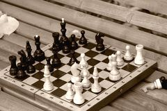deskowy ławka szachy Obrazy Stock