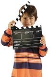 deskowy chłopiec clapper film Zdjęcie Royalty Free