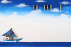deskowy klamerki papieru obrazek drewniany Obraz Stock