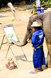 deskowy kolorowy słonia obrazu biel Obrazy Royalty Free