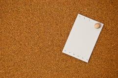 deskowy korkowy nutowego papieru biel Zdjęcia Stock