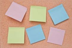 deskowy korkowy nutowy papier Zdjęcie Stock