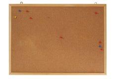 deskowy korkowy zawiadomienie Zdjęcia Royalty Free