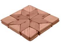 deskowy kwadratowy drewniany Zdjęcie Royalty Free