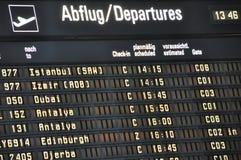 deskowy lotnisko odjazd Obraz Royalty Free
