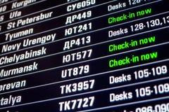 Deskowy panel z wszystkie odprawa lotami Obrazy Stock