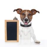 Deskowy placeholder sztandaru pies Zdjęcia Royalty Free