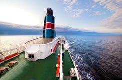 deskowy pokładu oceanu statku zmierzchu widok Zdjęcie Royalty Free
