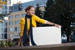 deskowy pusta deskowa kobieta Fotografia Royalty Free
