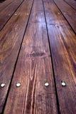 Deskowy stół w perspektywie Zdjęcie Stock