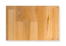 deskowy szyldowy drewno Obrazy Stock