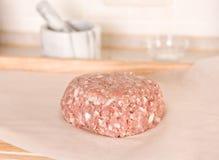 deskowy tnący mięso minced Obrazy Royalty Free