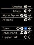deskowy zawiadomienia znaków transport Zdjęcia Royalty Free