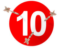 deskowych strzałek numerowa czerwień dziesięć Zdjęcie Stock