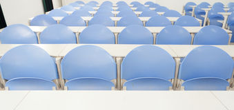 Desks and chairs in a modern training room Stock Photography