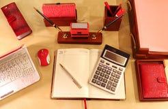 Desktop à moda para a senhora do negócio Foto de Stock