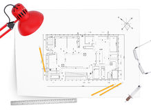 Desktop architect Royalty Free Stock Photos