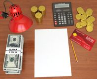 Desktop banker Royalty Free Stock Photo