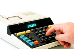 Desktop Calculator Stock Image