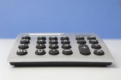 Desktop calculator, closeup Royalty Free Stock Photo