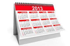 Desktop calendar for 2013. Year on a white background Stock Photography