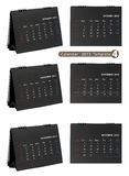 Desktop calendar 2013 isolated. On white background (october, november, december stock illustration