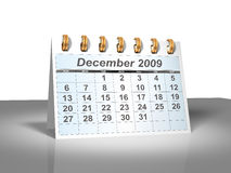 Desktop Calendar (3D). December, 2009. Week starts on Sunday. Considerable quantity of calendars in my portfolio Stock Photography