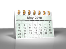 Desktop Calendar (3D). May, 2010. Week starts on Sunday. A full series for 2010 in my portfolio Stock Images